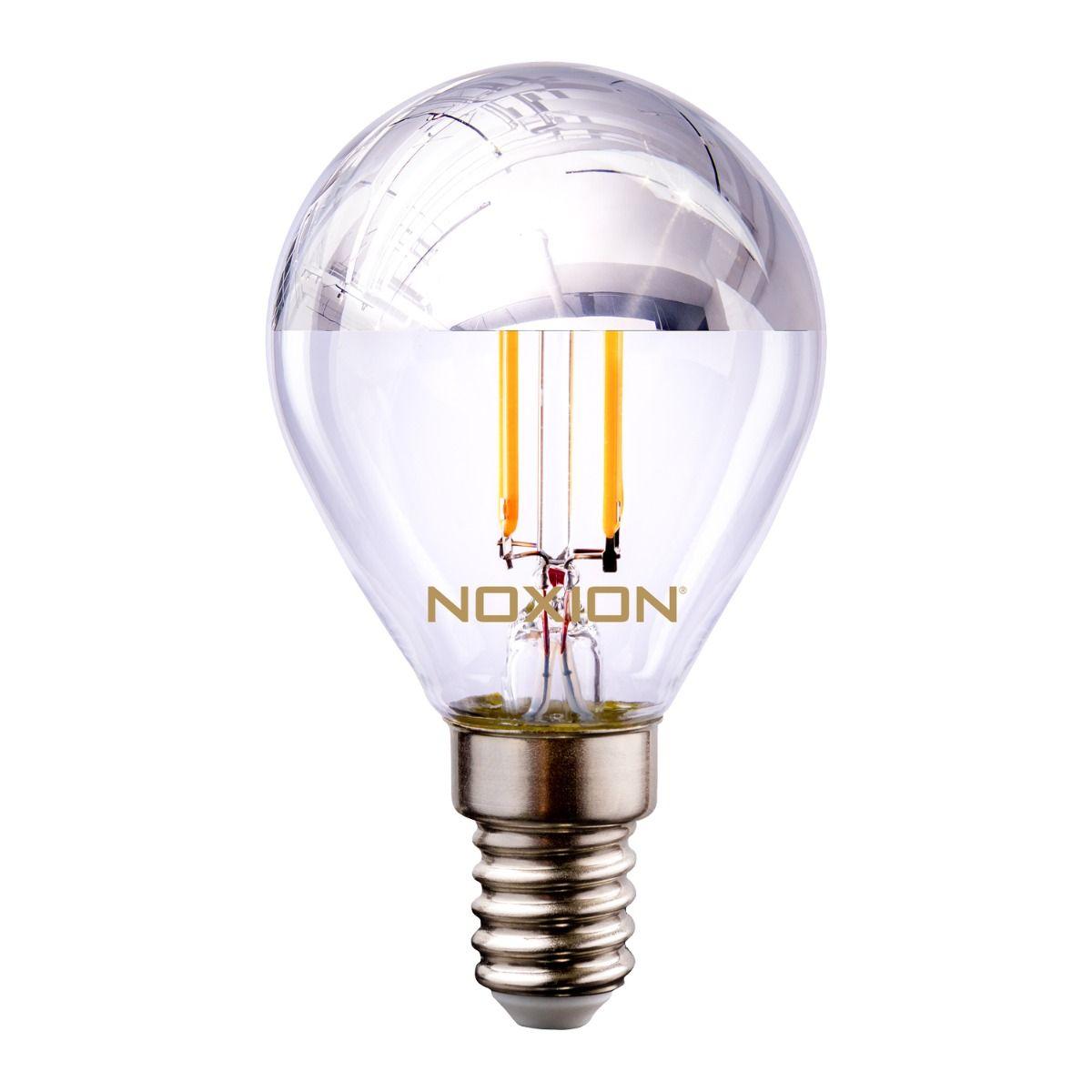 Noxion Lucent Filament LED Lustre Silver Mirror P45 E14 220-240V 4.5W 400LM CRI80 2700K ND (40W eqv)