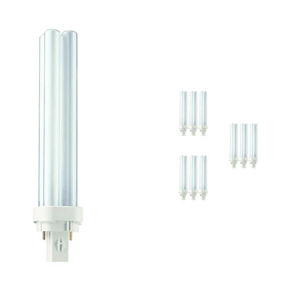 Multipack 10x Philips PL-C 26W 830 2P (MASTER) | Warm White - 2-Pin