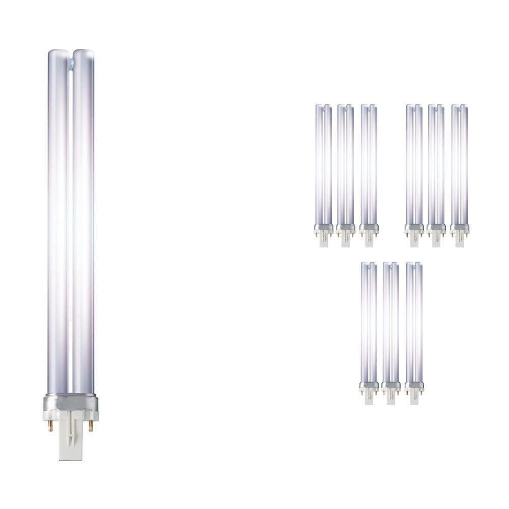 Multipack 10x Philips PL-S 11W 827 2P (MASTER) | Extra Warm White - 2-Pin
