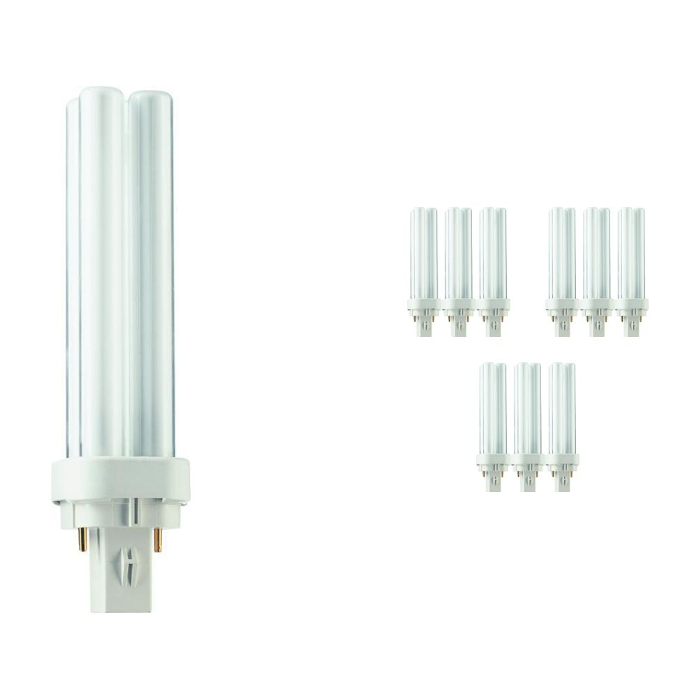 Multipack 10x Philips PL-C 13W 827 2P (MASTER) | Extra Warm White - 2-Pin