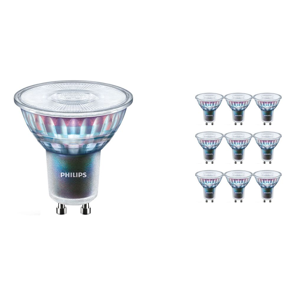 Multipack 10x Philips LEDspot ExpertColor GU10 5.5W 930 25D (MASTER) | Best Colour Rendering - Warm White - Dimmable - Replaces 50W