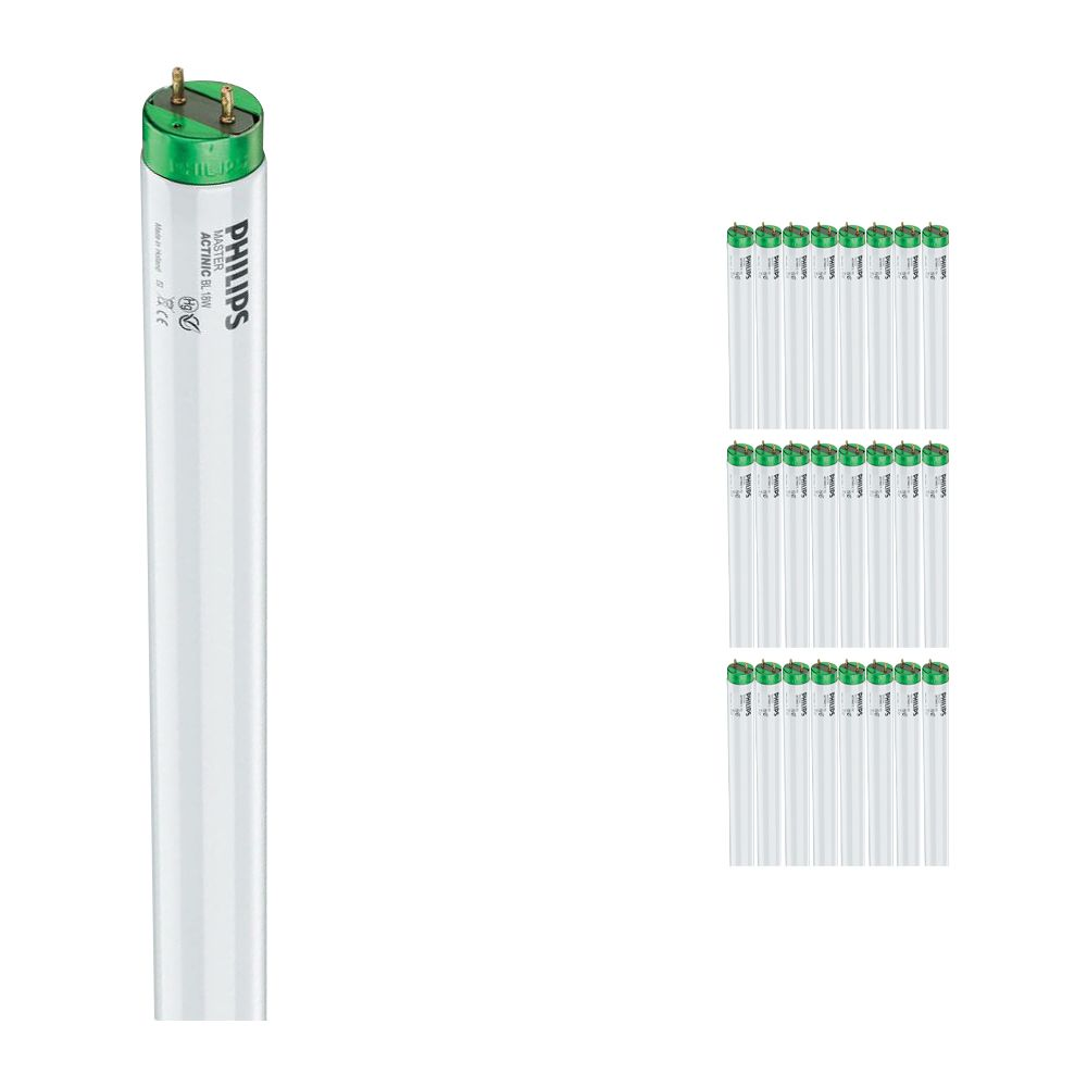 Multipack 25x Philips TL-D 18W 10 Actinic BL (MASTER)   59cm