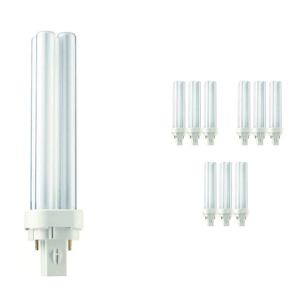 Multipack 10x Philips PL-C 18W 840 2P (MASTER) | Cool White - 2-Pin