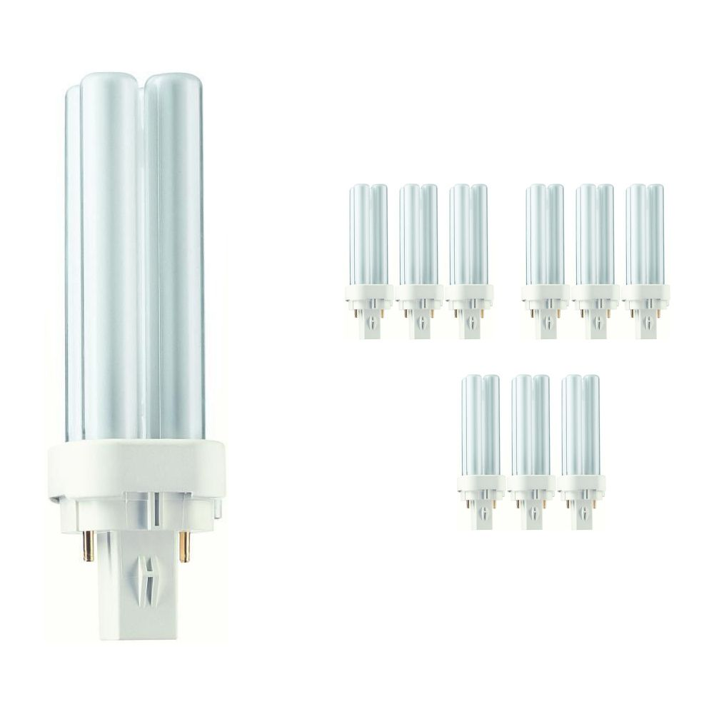 Multipack 10x Philips PL-C 10W 827 2P (MASTER) | Extra Warm White - 2-Pin