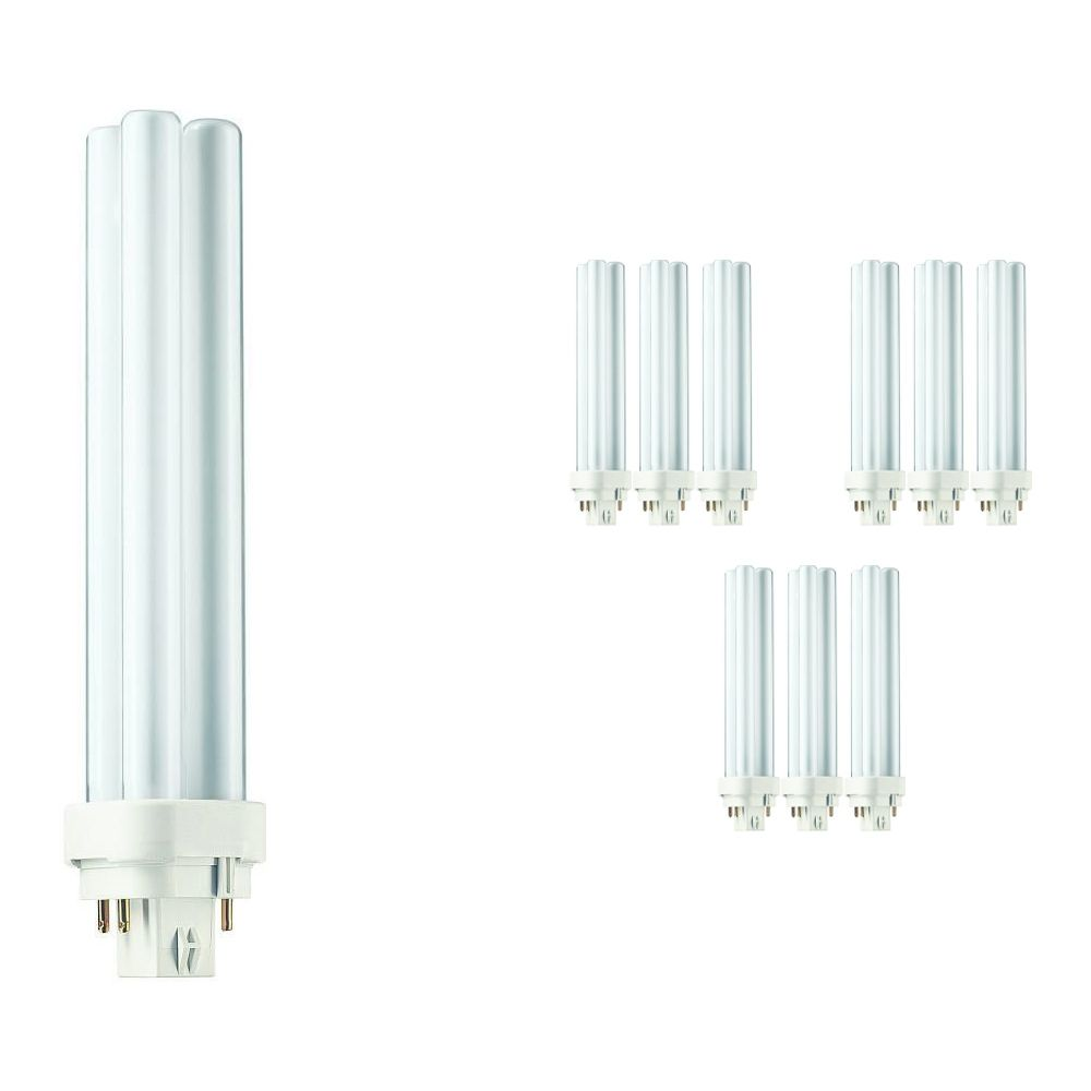 Multipack 10x Philips PL-C 26W 827 4P (MASTER)   Extra Warm White - 4-Pin