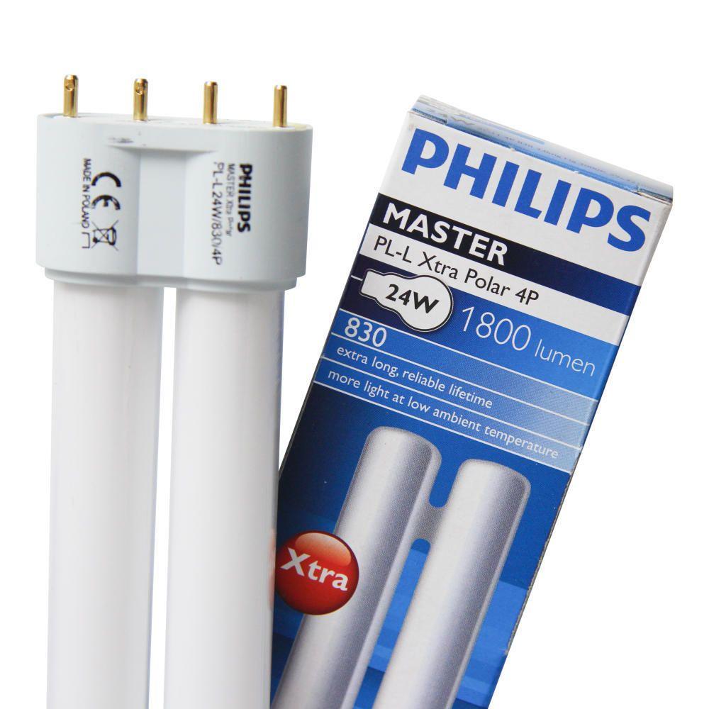 Philips PL-L Xtra Polar 24W 830 4P (MASTER) | Warm White - 4-Pin