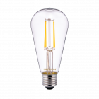Noxion Lucent Classic LED Filament ST64 E27 4W 827 Clear   Extra Warm White - Replaces 40W