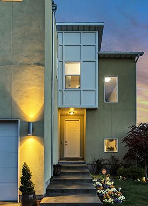 LED motion detectors outdoors