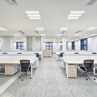 LED-Panels in an office
