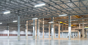LED-Damp-Chambers-fixtures-In-An-Industrial-Hall