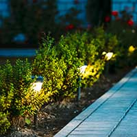 LED motion detectors for outdoors
