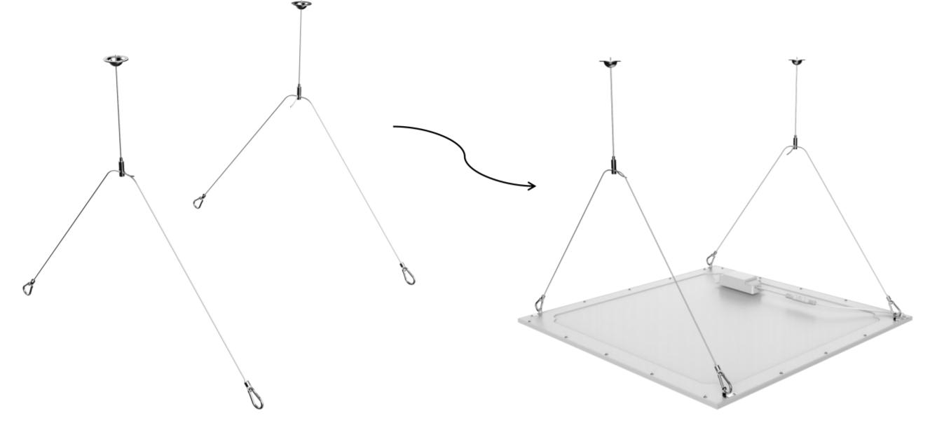 LED Panel mounting set
